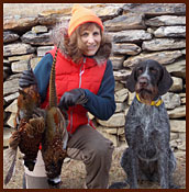 A GWP and pheasants and the owner